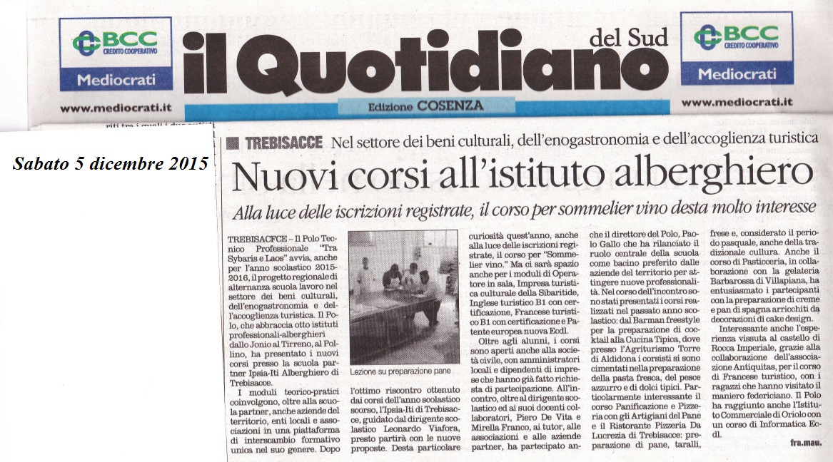 polo sul quotidiano calabria